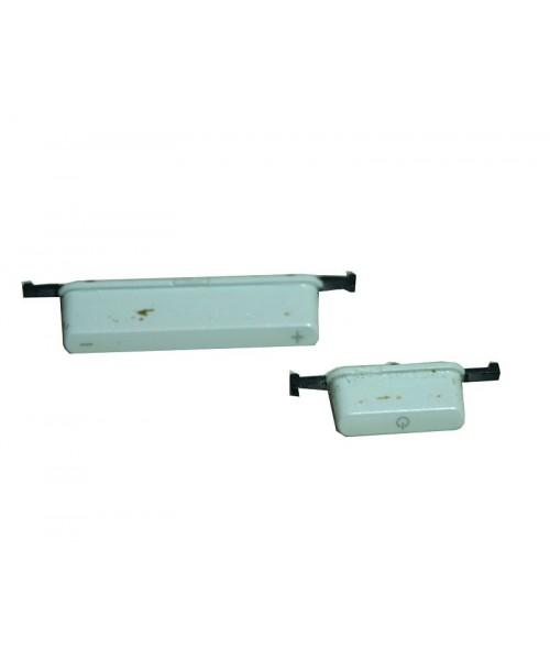 Botones exteriores para Asus MemoPad ME102 ME102A K00F blanco original
