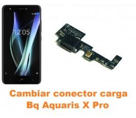 Cambiar conector carga Bq Aquaris X Pro