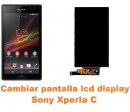Cambiar pantalla lcd display Sony Xperia C
