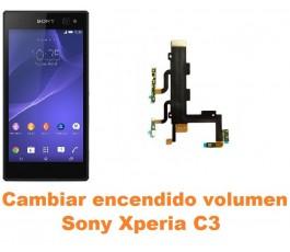 Cambiar encendido y volumen Sony Xperia C3