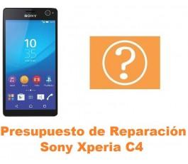 Presupuesto de reparación Sony Xperia C4