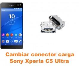 Cambiar conector carga Sony Xperia C5 Ultra