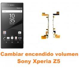 Cambiar encendido y volumen Sony Xperia Z5