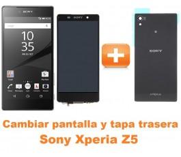 Cambiar pantalla completa y tapa trasera Sony Xperia Z5