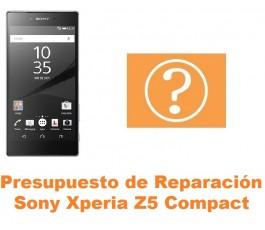 Presupuesto de reparación Sony Xperia Z5 Compact
