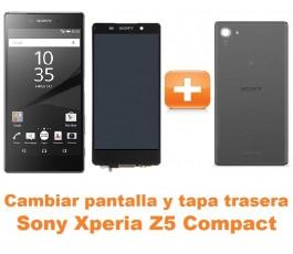 Cambiar pantalla completa y tapa trasera Sony Xperia Z5 Compact