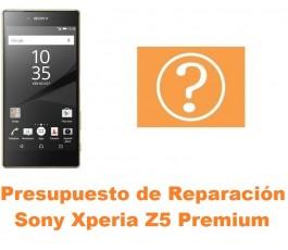 Presupuesto de reparación Sony Xperia Z5 Premium