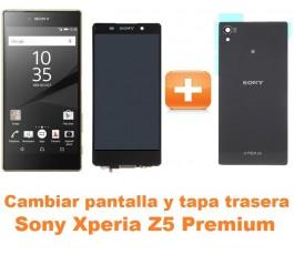 Cambiar pantalla completa y tapa trasera Sony Xperia Z5 Premium