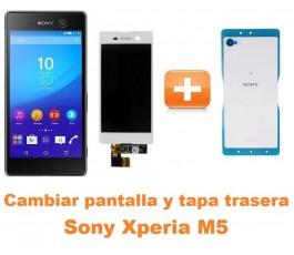 Cambiar pantalla completa y tapa trasera Sony Xperia M5