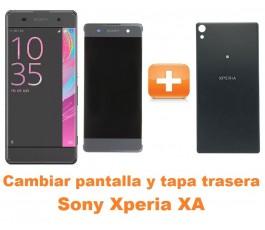 Cambiar pantalla completa y tapa trasera Sony Xperia XA