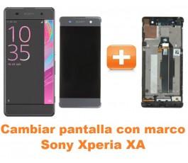 Cambiar pantalla completa con marco Sony Xperia XA