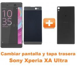 Cambiar pantalla completa y tapa trasera Sony Xperia XA Ultra