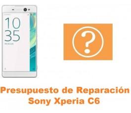 Presupuesto de reparación Sony Xperia C6