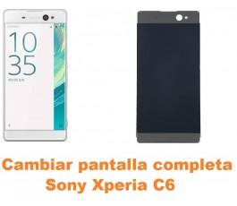Cambiar pantalla completa Sony Xperia C6