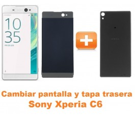 Cambiar pantalla completa y tapa trasera Sony Xperia C6