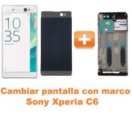 Cambiar pantalla completa con marco Sony Xperia C6