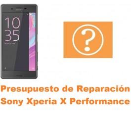 Presupuesto de reparación Sony Xperia X Performance