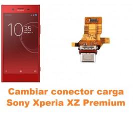 Cambiar conector carga Sony Xperia XZ Premium