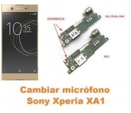 Cambiar micrófono Sony Xperia XA1