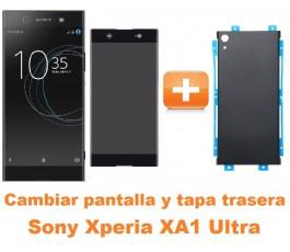 Cambiar pantalla completa y tapa trasera Sony Xperia XA1 Ultra