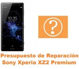 Presupuesto de reparación Sony Xperia XZ2 Premium