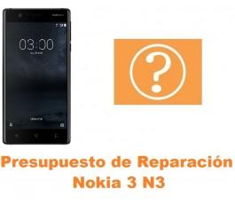 Presupuesto de reparación Nokia 3 N3