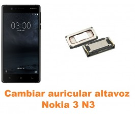 Cambiar auricular altavoz Nokia 3 N3