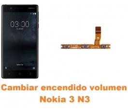Cambiar encendido y volumen Nokia 3 N3