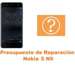 Presupuesto de reparación Nokia 5 N5