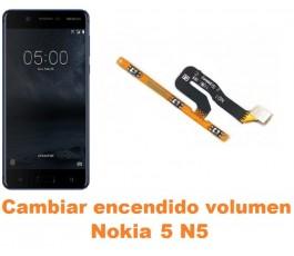 Cambiar encendido y volumen Nokia 5 N5