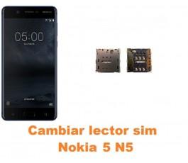 Cambiar lector sim Nokia 5 N5
