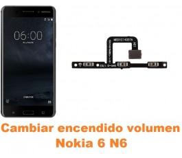 Cambiar encendido y volumen Nokia 6 N6
