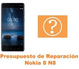 Presupuesto de reparación Nokia 8 N8
