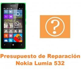 Presupuesto de reparación Nokia Lumia 532