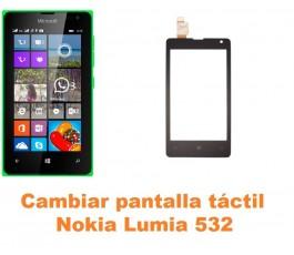 Cambiar pantalla táctil cristal Nokia Lumia 532
