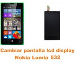 Cambiar pantalla lcd display Nokia Lumia 532