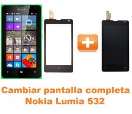 Cambiar pantalla completa Nokia Lumia 532