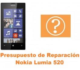 Presupuesto de reparación Nokia Lumia 520
