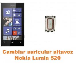 Cambiar auricular altavoz Nokia Lumia 520