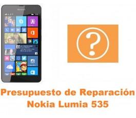 Presupuesto de reparación Nokia Lumia 535