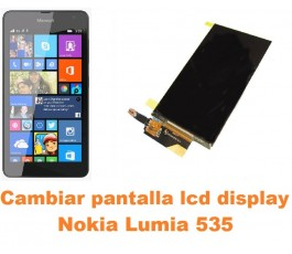 Cambiar pantalla lcd display Nokia Lumia 535