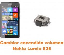 Cambiar encendido y volumen Nokia Lumia 535