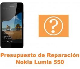 Presupuesto de reparación Nokia Lumia 550