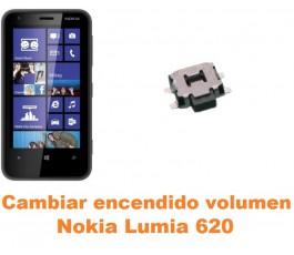 Cambiar encendido y volumen Nokia Lumia 620