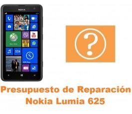 Presupuesto de reparación Nokia Lumia 625