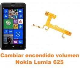 Cambiar encendido y volumen Nokia Lumia 625