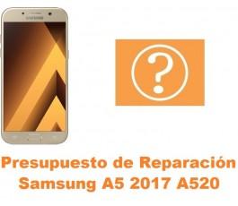 Presupuesto de reparación Samsung Galaxy A5 2017 A520