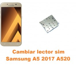 Cambiar lector sim Samsung Galaxy A5 2017 A520