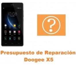 Presupuesto de reparación Doogee X5