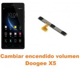 Cambiar encendido y volumen Doogee X5